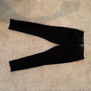 LOFT Black Curvy Corduroy Pants in Slim Fit